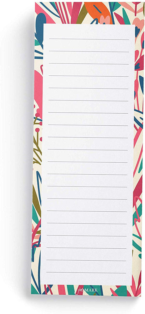 Exotic Floral Print Shopping List Pads (Set of 3)