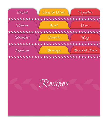Citrus Recipe Card Dividers (Set of 24)