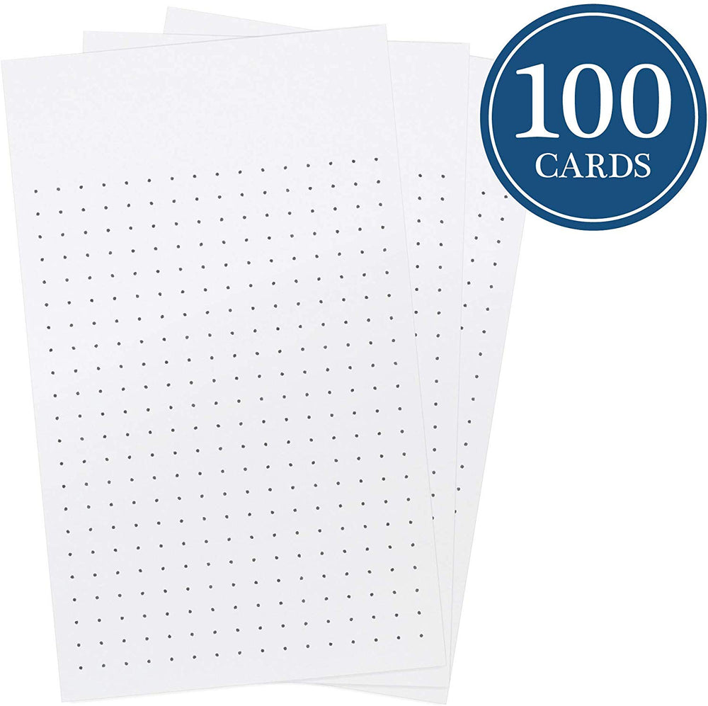 Dotted Index Cards Vertical 3-inch by 5-inch (Pack of 100)