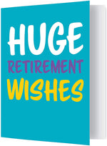 "Extra-Large Retirement Card (One 8.5 x 11"" Card with Matching Envelope)"