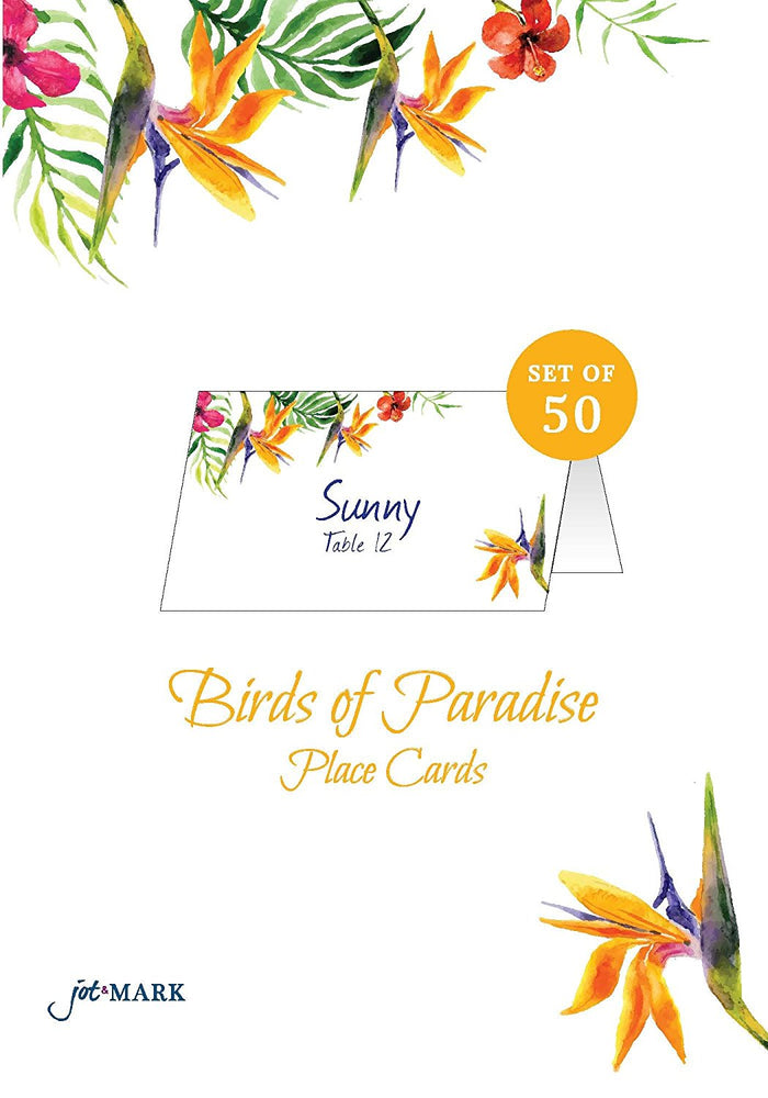 Place Cards - Bird of Paradise (50 Count)