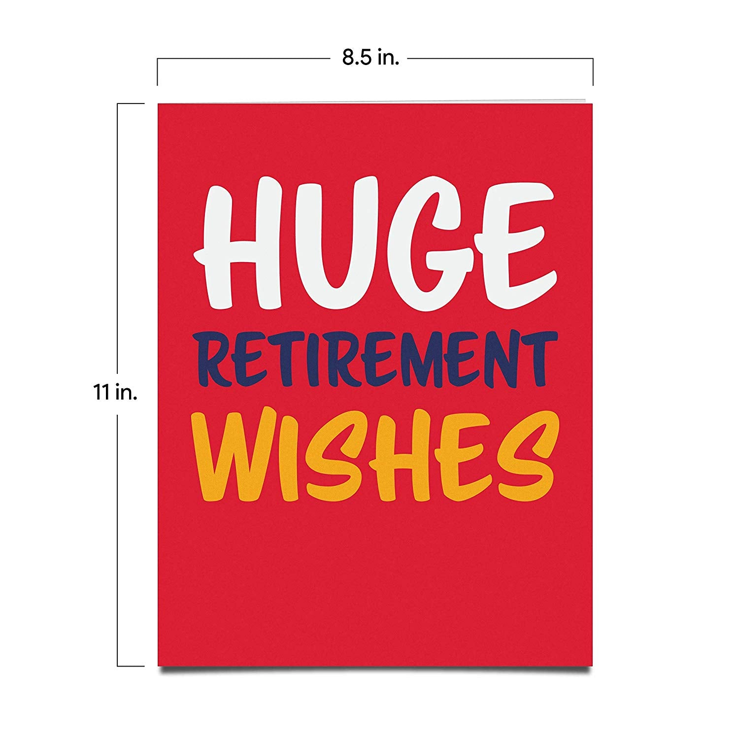 extralarge retirement card  fullpage greeting card from