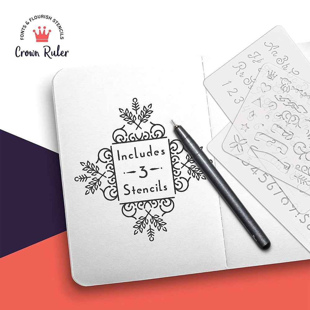 Crown Ruler Fonts and Flourishes (Set of 3)