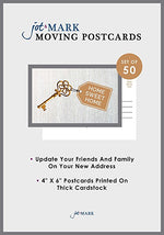 We're Moving Postcards - Key (Pack of 50)