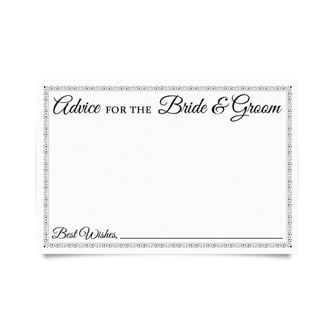 Wedding Advice Cards (Pack of 50)