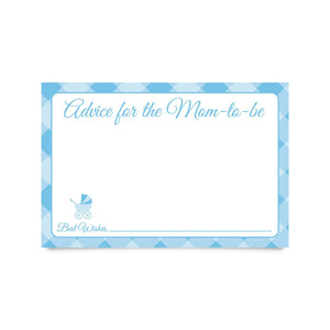 Baby Shower Advice Cards for New Moms (pack of 25)