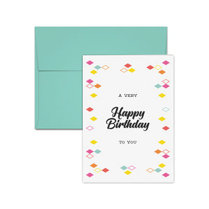 Birthday Card Box Set Of 10 Cards And Envelopes