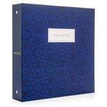 "Photo Album Set - Clear Pocket Sleeves, 6 Tab Dividers, 3-Ring Binder 8.5"" x 9.5"" (Cerulean Bloom)"