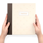 "Photo Album Set - Clear Pocket Sleeves, 6 Tab Dividers, 3-Ring Binder 8.5"" x 9.5"" (Champagne Symphony)"