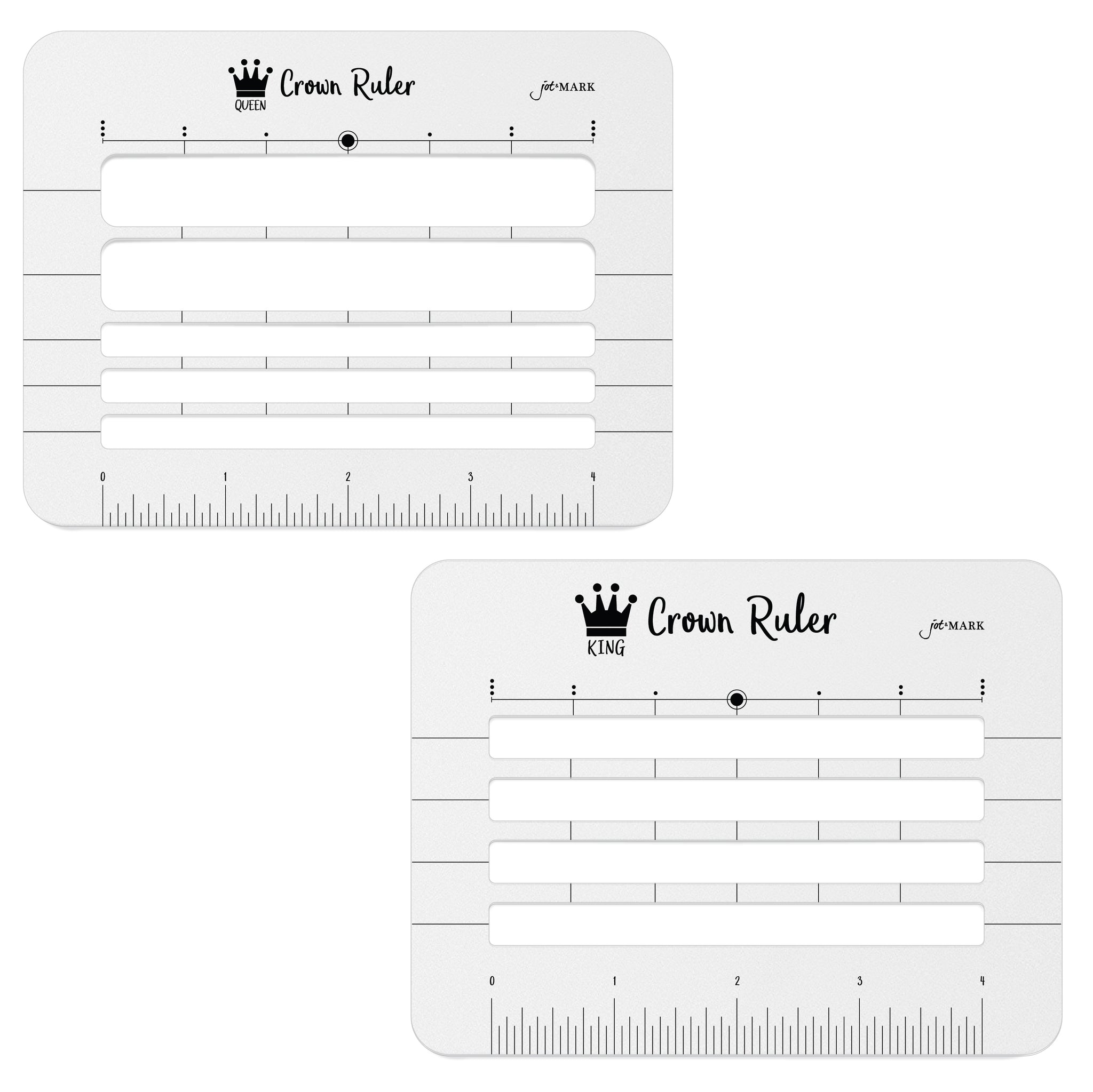 Crown Ruler Envelope Stencil (Set of 2)