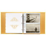 "Photo Album Set - Clear Pocket Sleeves, 6 Tab Dividers, 3-Ring Binder 8.5"" x 9.5"" (Desert Sun)"
