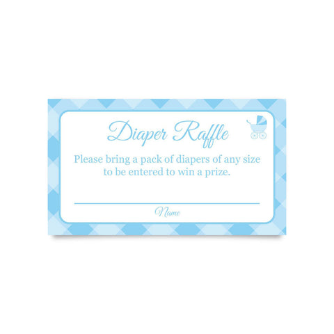 "Diaper Raffle Cards for Baby Shower 3.5 x 2"" (Pack of 24)"