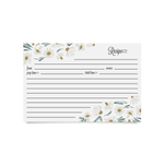 Recipe Cards - English Daisies (Pack of 50)