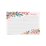 Recipe Cards - Exotic Floral (Pack of 50)