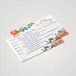 Recipe Tin Kit - Garden Floral Tin, Recipe Cards, and Rainbow Index Dividers