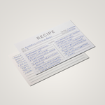 Recipe Cards - Minimal (Pack of 50)