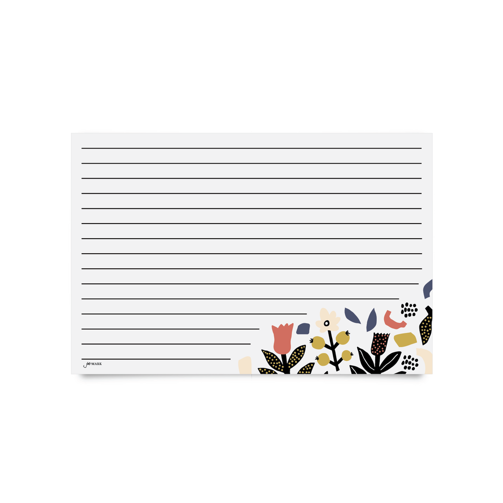 Recipe Cards - Scandinavian Floral (Pack of 50)