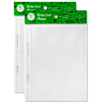 Recipe Binder Protective Sleeves - 10 Full Page Sleeves