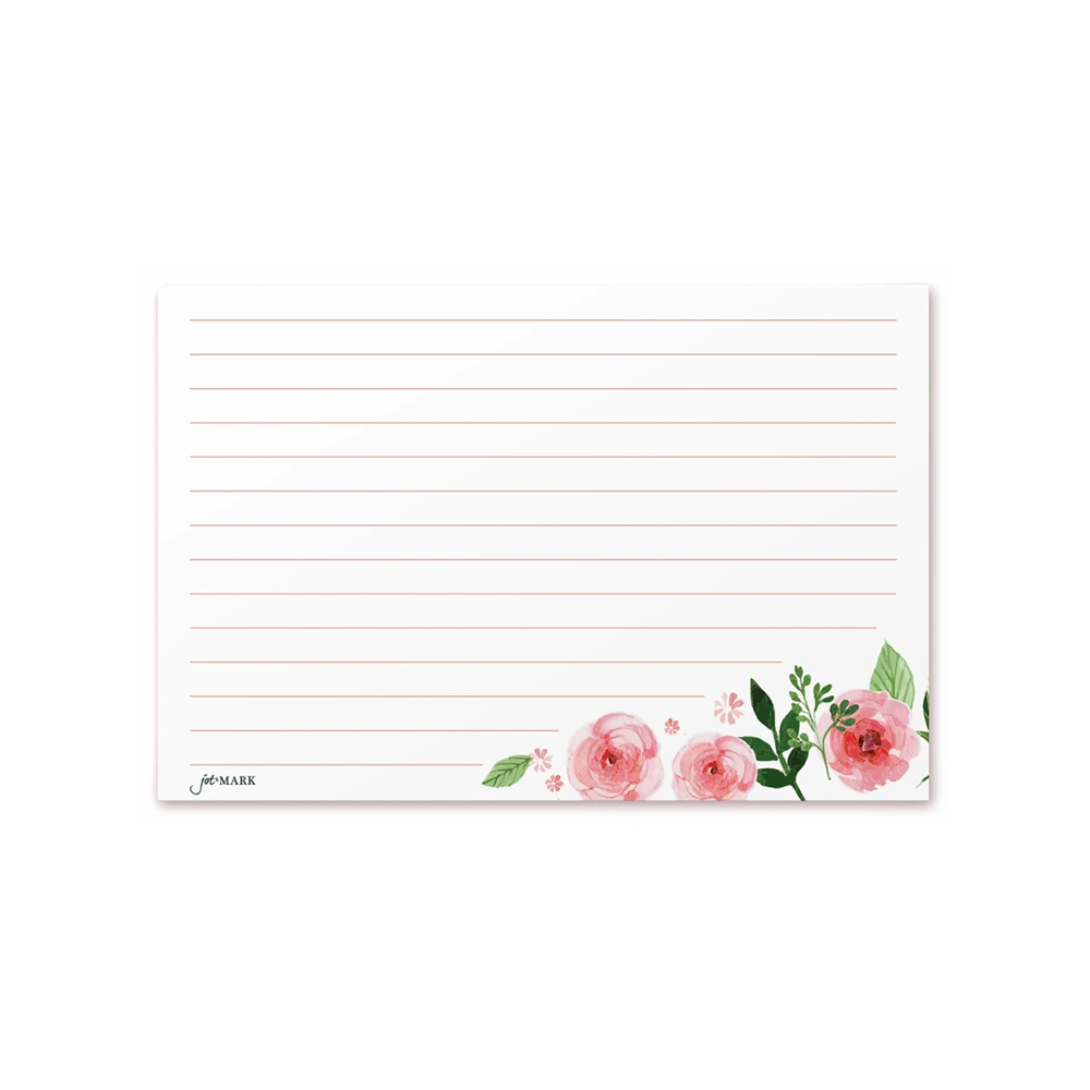 Recipe Cards - Pink Peonies (Pack of 50)