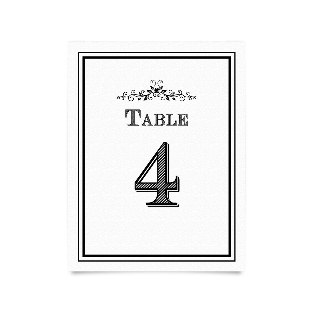 Table Numbers for Reception or Banquet (Set of 25)