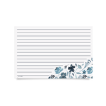 Recipe Cards - Indigo Floral (Pack of 50)