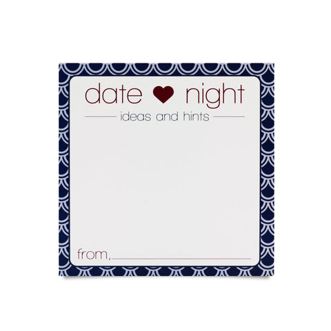 Date Night Ideas and Hints Note Cards (Pack of 50)