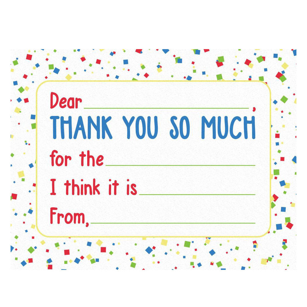 Kids Thank You Cards - Confetti (set of 20)