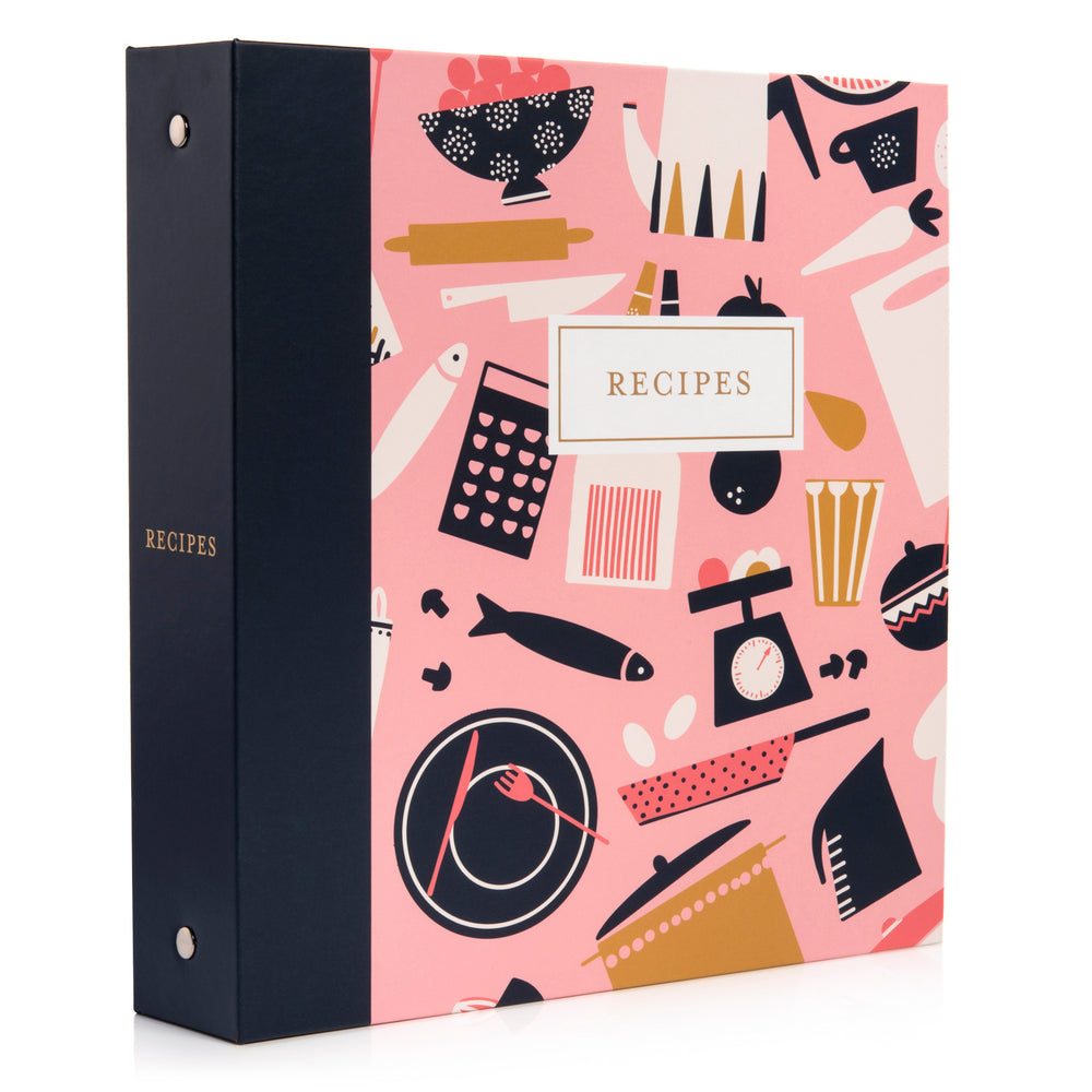 Recipe Binder Kit 8.5x9.5 (Mise en Place) - Recipes Binder, Recipe Cards, Classic Dividers, and Protective Sleeves