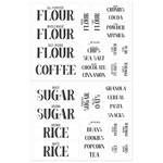 Pantry Labels for Kitchen Organization and Storage, Clear Stickers (Set of 36)