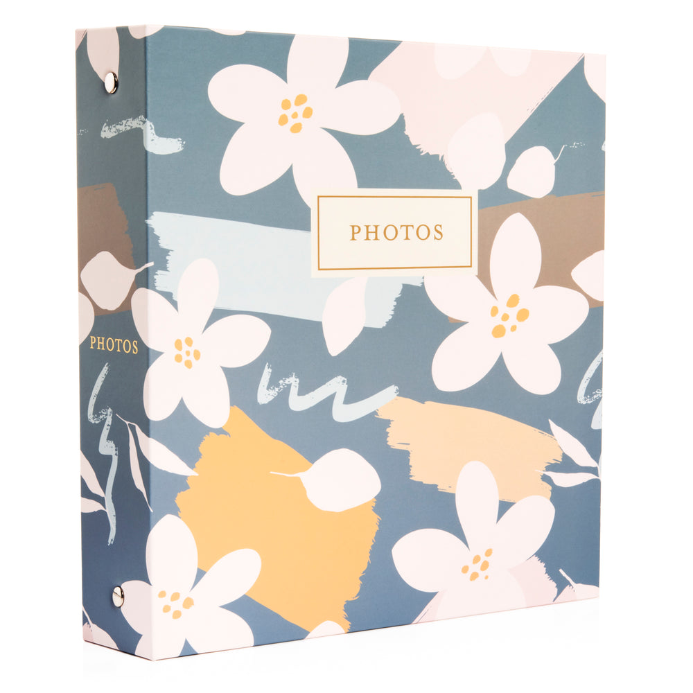 "Photo Album Set - Clear Pocket Sleeves, 6 Tab Dividers, 3-Ring Binder 8.5"" x 9.5"" (Virginia Spring)"