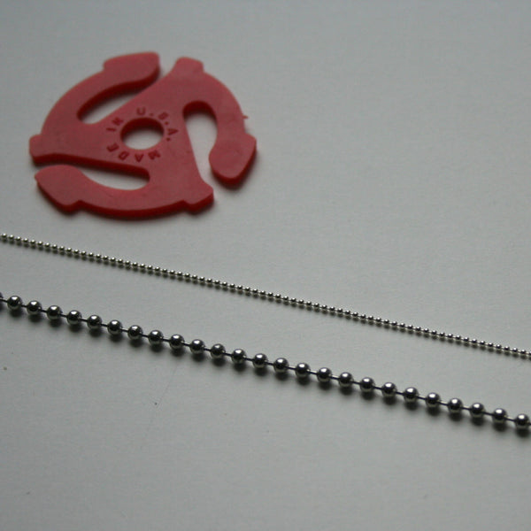 Detail of ball chain for 45 adapter necklace