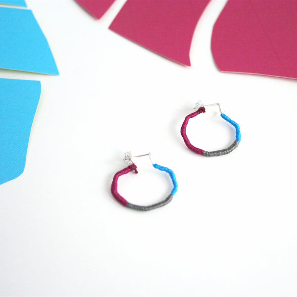 Threaded earrings (various colors)