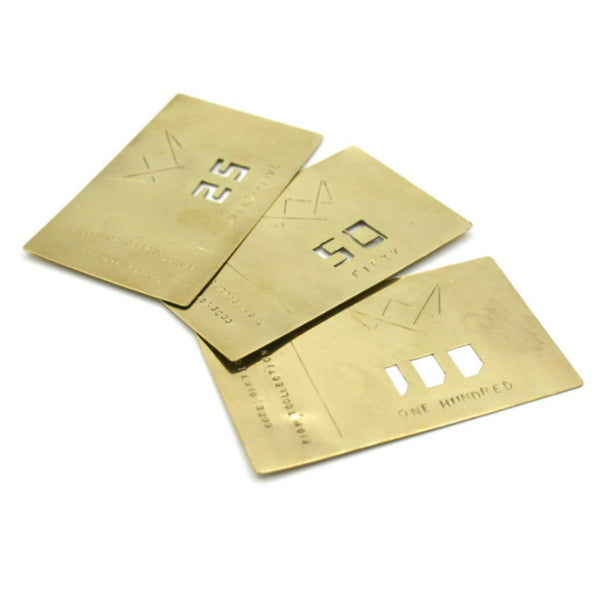 Gift Card in brass