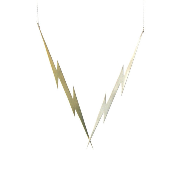 Lightning Killer Bolt statement necklace