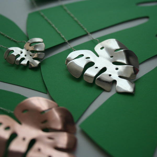 Palm Monstera necklace