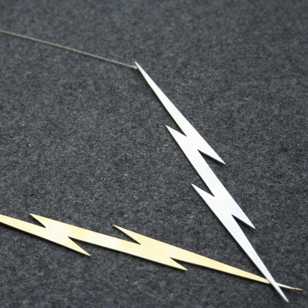 Lightning Killer Bolts statement necklace by Right Collection