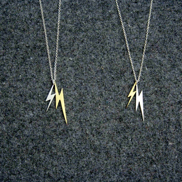 Lightning Double Bolt necklace by Right Collection