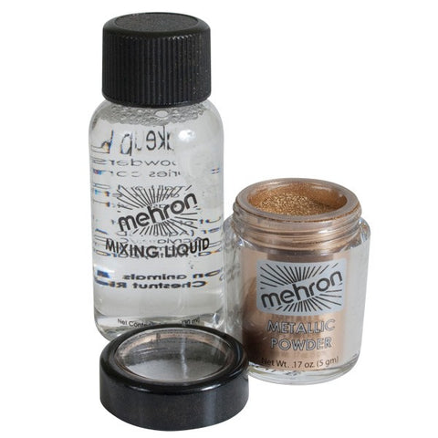 Mehron Metallic powder/mixing liquid combo - Copper