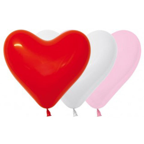 28cm Hearts red/pink/white 12pk