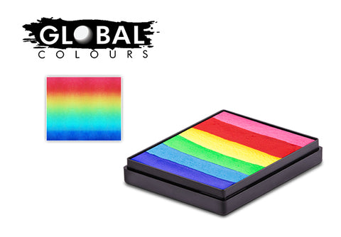 Global split cake - Bright rainbow 50gm *MAGNETIC*