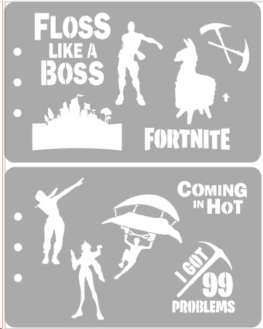 Fortnite stencil set