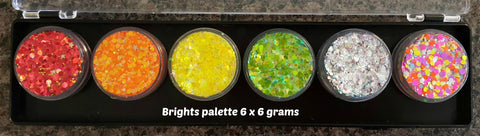 Fairy Snuff glitter paste Brights palette 6 x 6gm