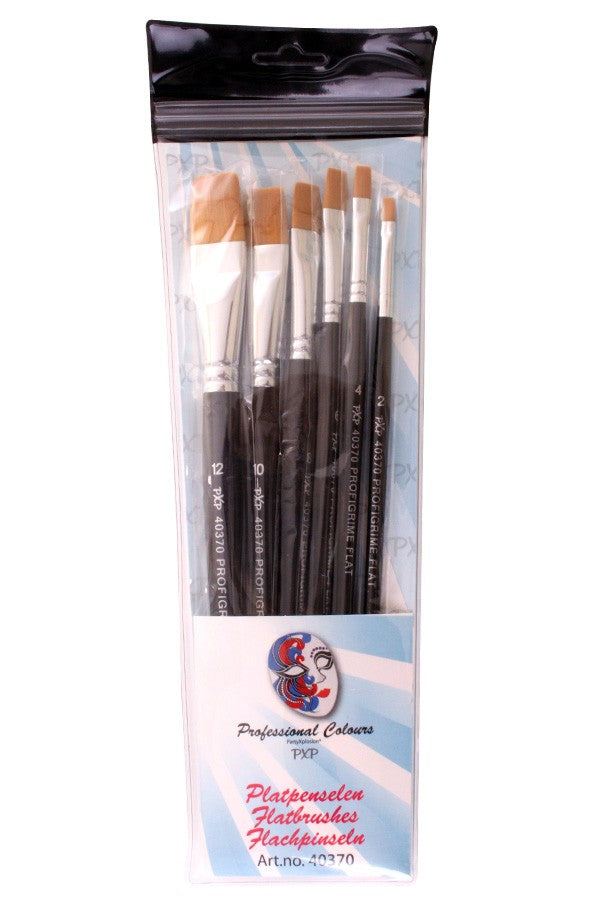PXP Professional Flat brush set 6pcs