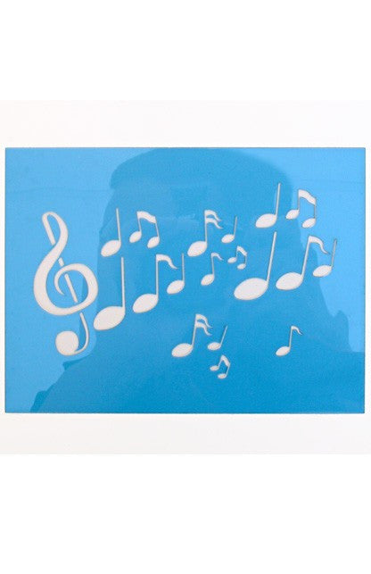 Musical note stencil nz