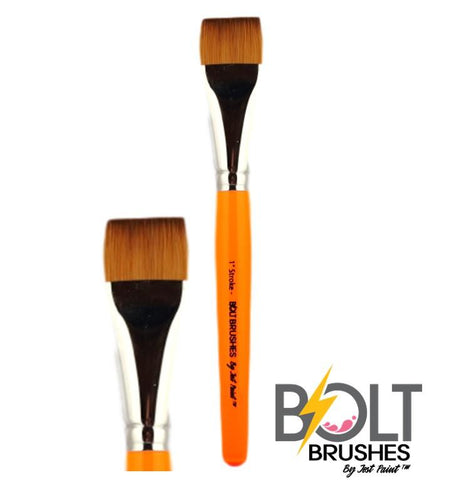 "BOLT 1"" One stroke flat brush pointed handle"
