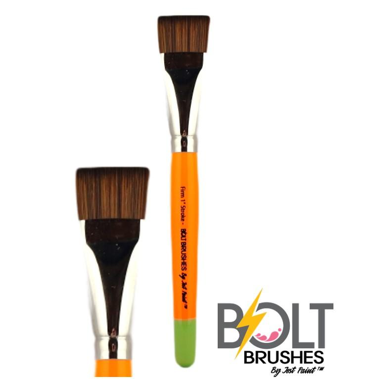 "BOLT Firm 1"" one stroke flat brush pointed handle"
