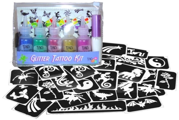 Tag glitter tattoo set - GIRLS