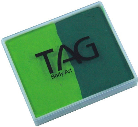 Tag split cake - Light green/Medium green 50gm