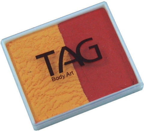 Tag split cake - Golden orange/Red 50gm