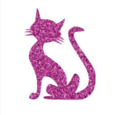 Glitter tattoo stencils - Cat - 5pcs